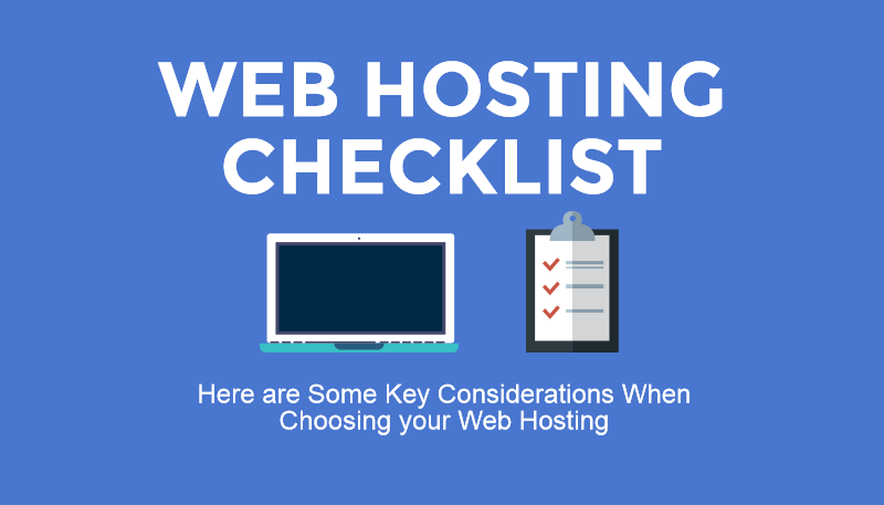 The 4 Step Checklist To A Good Web Hosting Plan