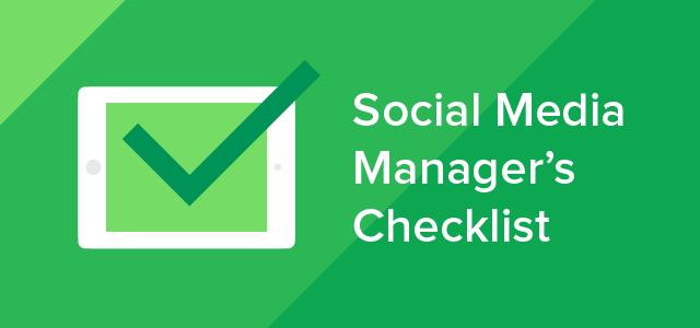 The 25 Step Social Media Checklist