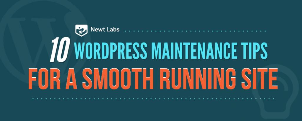 10 WordPress Maintenance Tips For Better Website Performance