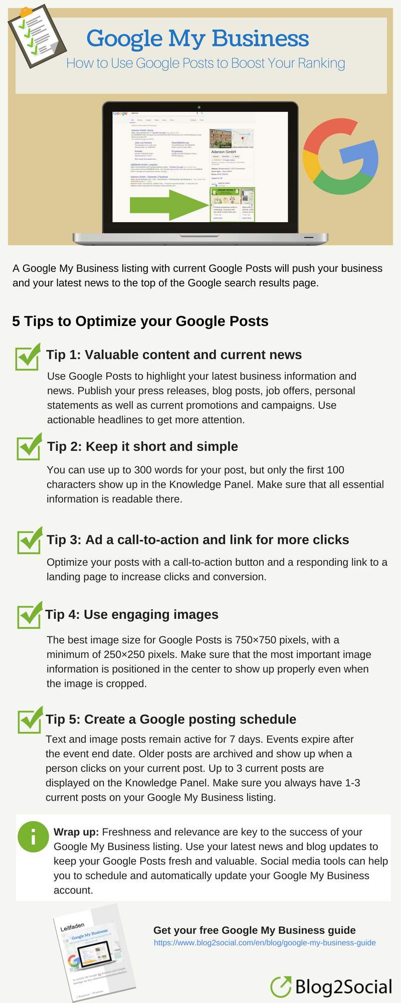 Google Posts Tips For Better Search Ranking Success