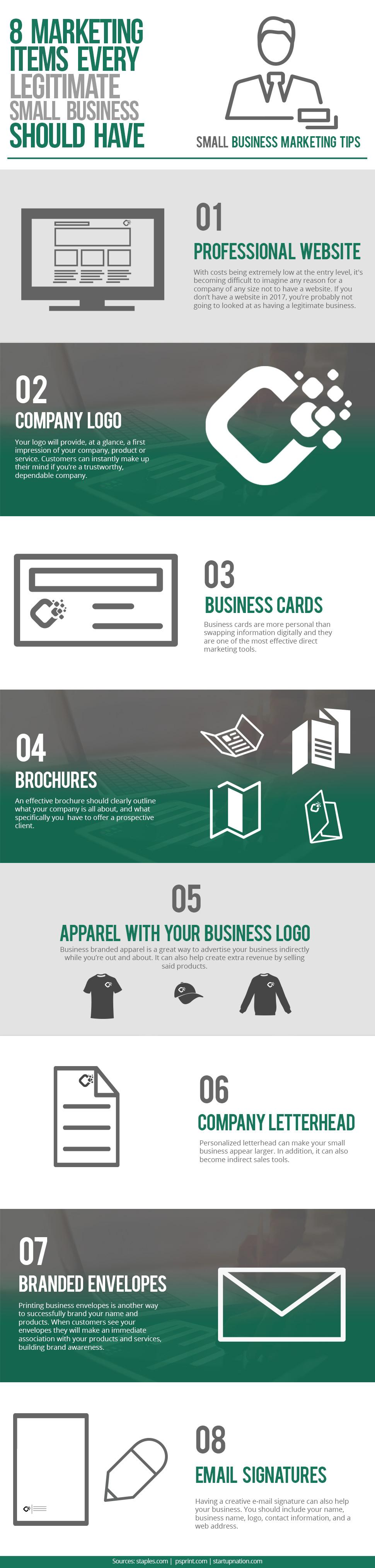 8 Essential Marketing Items