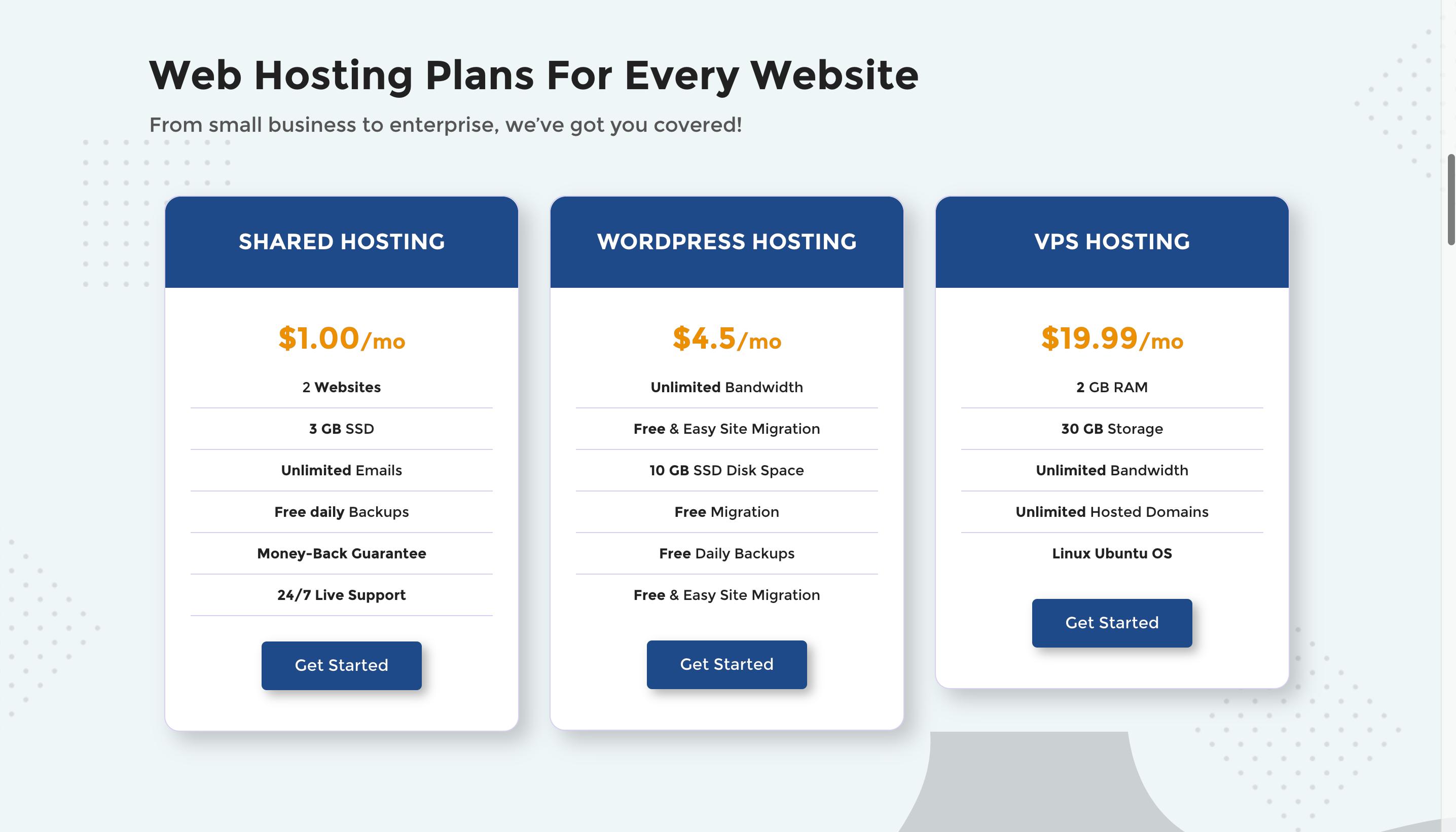 Da-Manager Website Hosting Plan