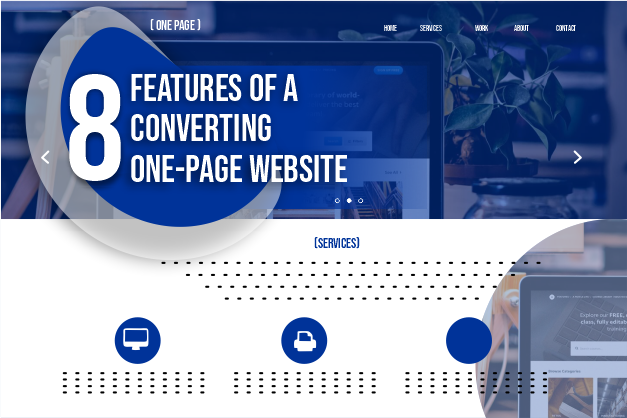 8 features of a converting one-page website