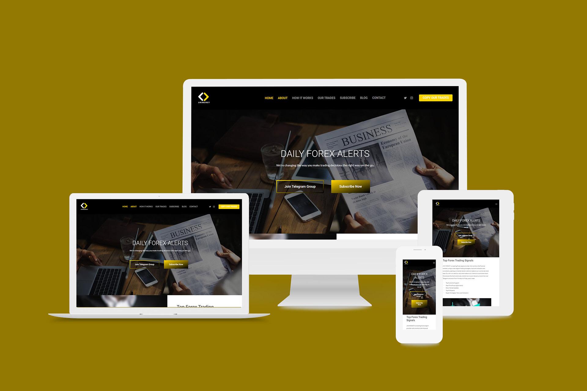 Forex Market Trading website design - Jini Money