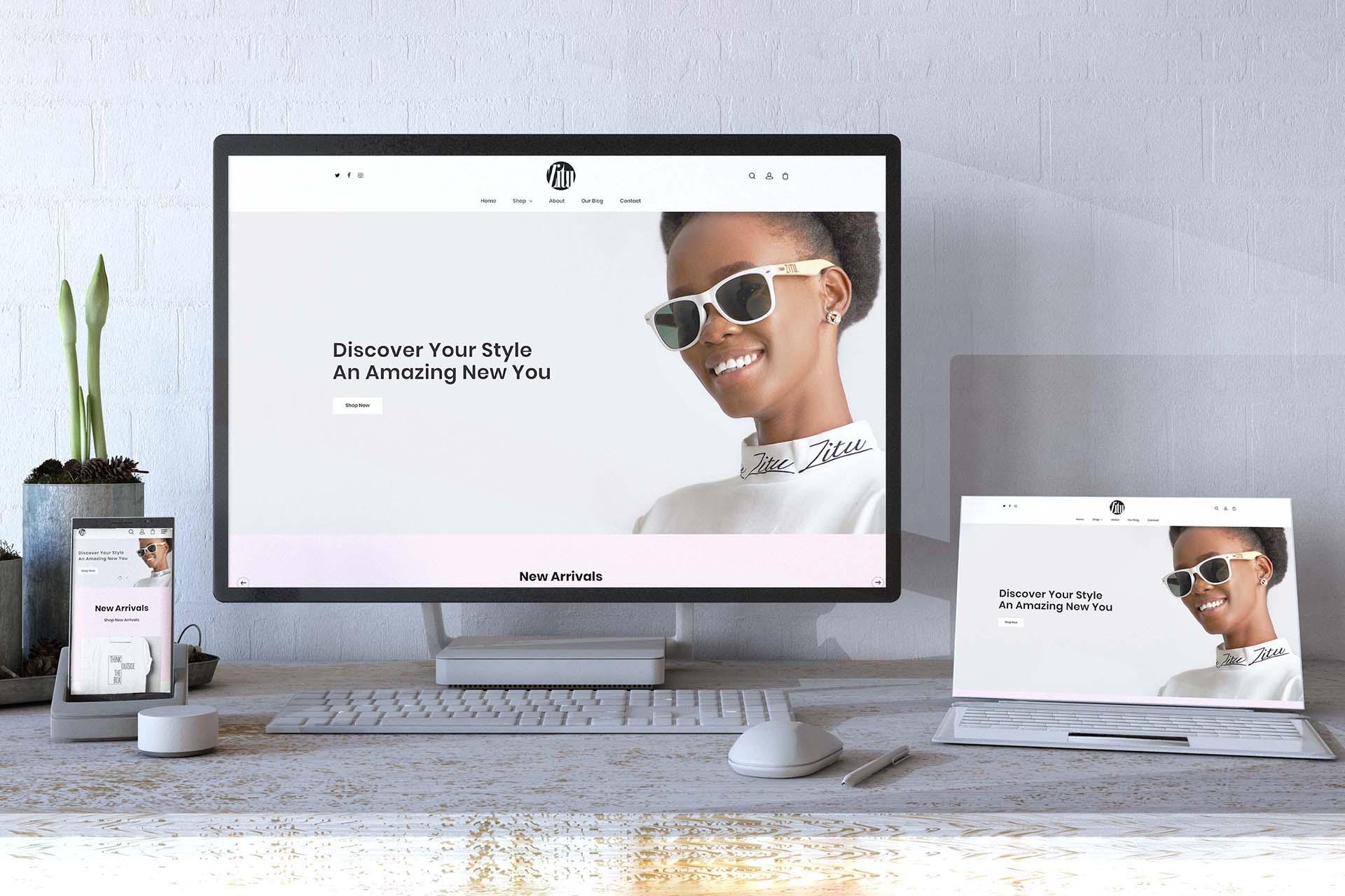 Ecommerce Clothing Store website design - Zitu Clothing