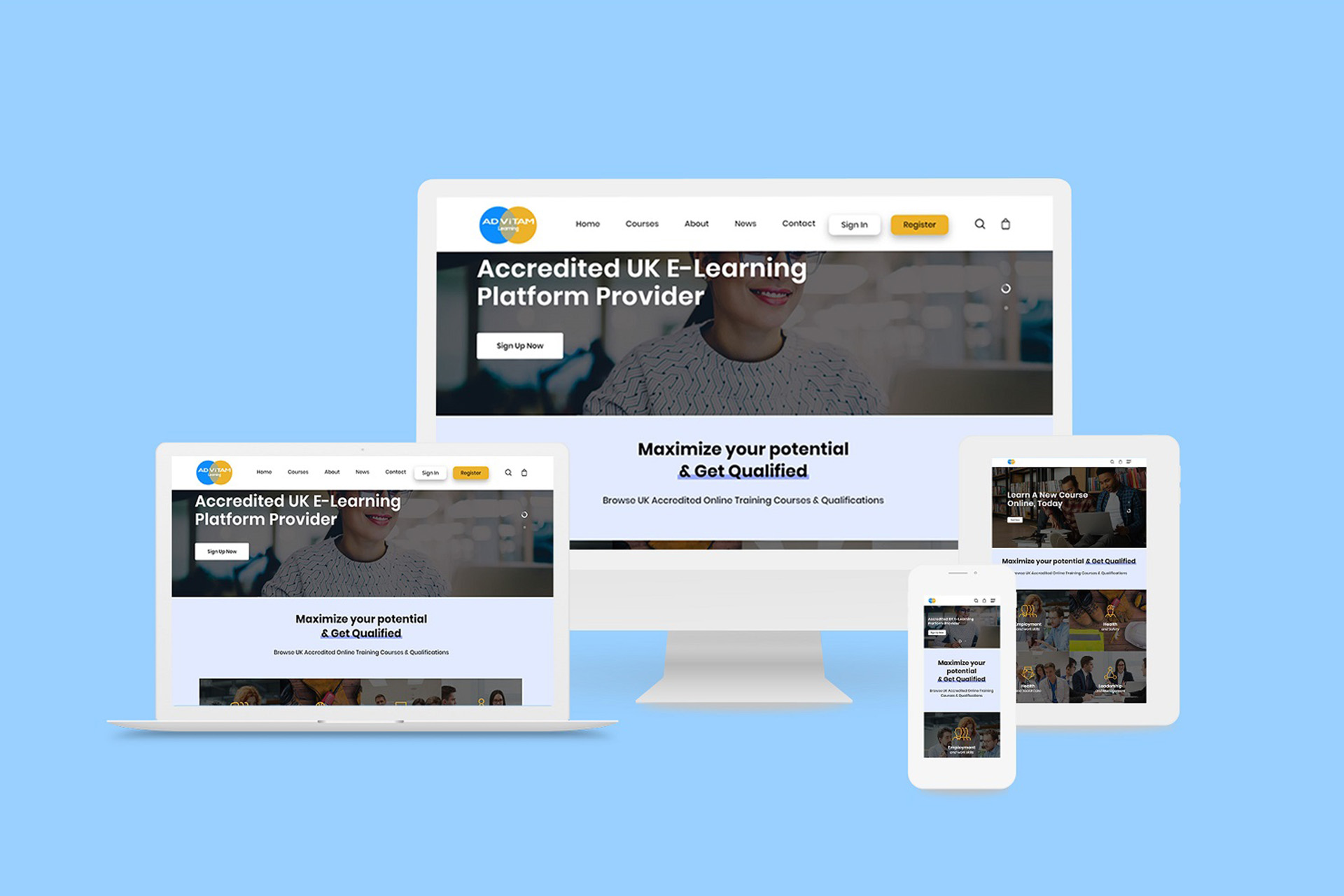 Online Learning Platform website design - Advitam Learning