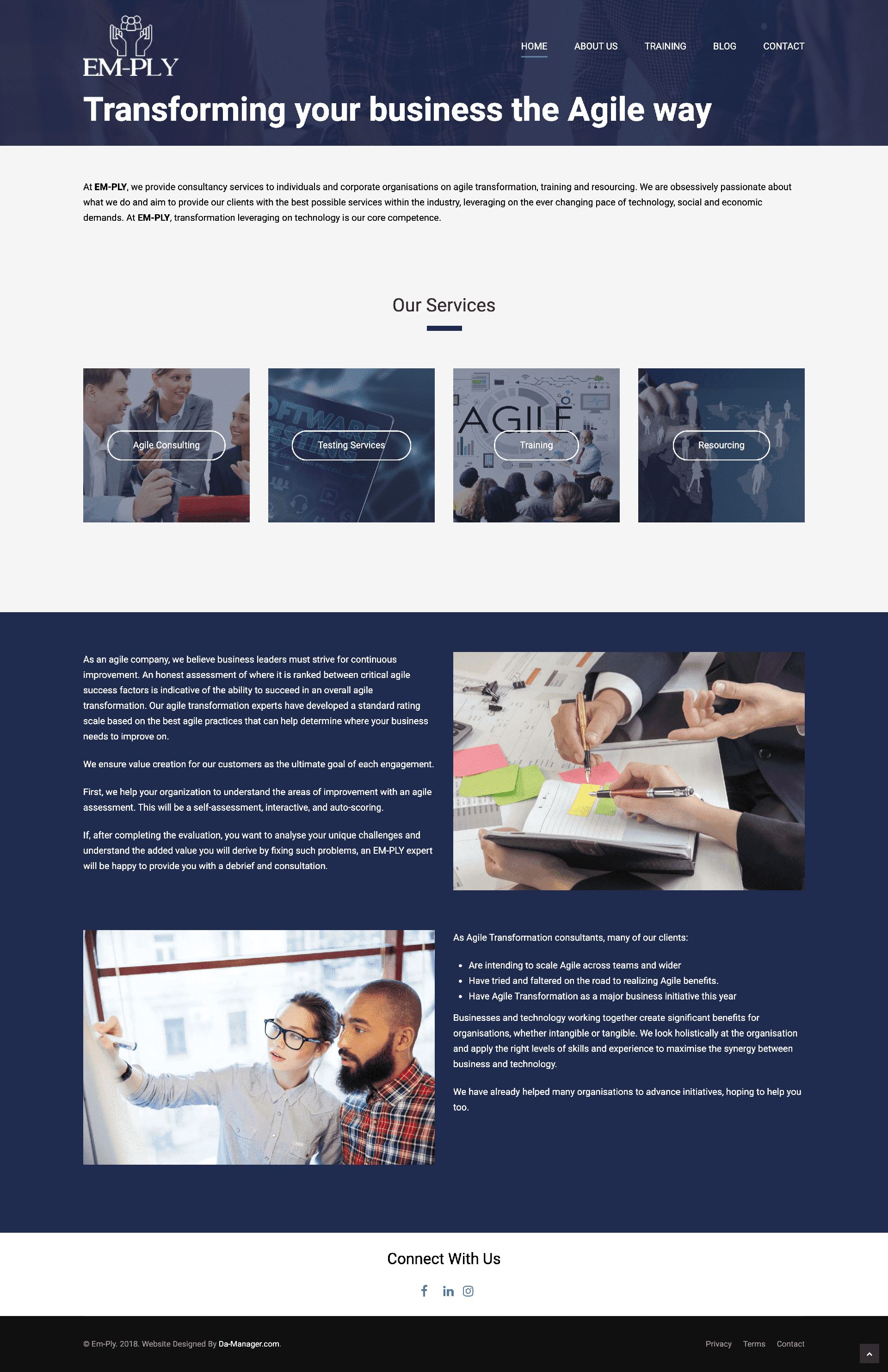 Website Design for a Project Management Consulting Firm Mockup
